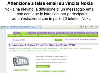 Attenzione a falsa email su vincita Nokia