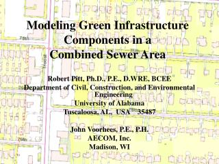 Modeling Green Infrastructure Components in a  Combined Sewer Area