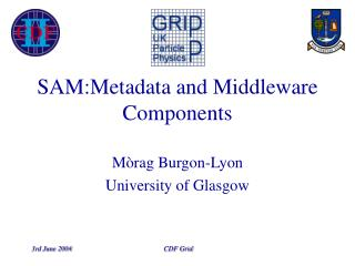 SAM:Metadata and Middleware Components