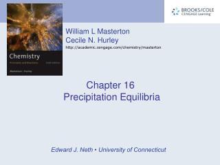 Chapter 16  Precipitation Equilibria