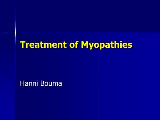 Treatment of Myopathies