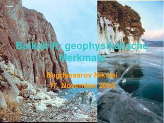 Baikalrift: geophysikalische Merkmale