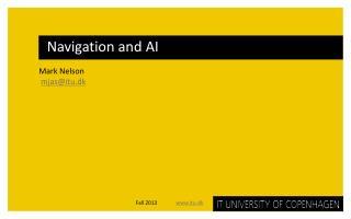 Navigation and AI