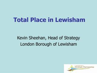Total Place in Lewisham