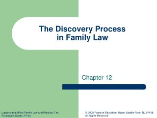 The Discovery Process  in Family Law