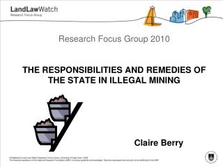 RESPONSIBILITIES AND REMEDIES OF THE STATE IN