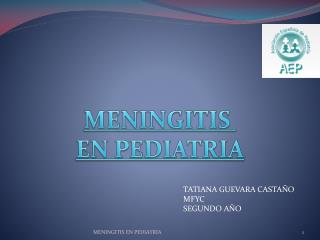 MENINGITIS  EN PEDIATRIA