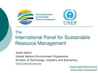 The  International Panel for Sustainable Resource Management
