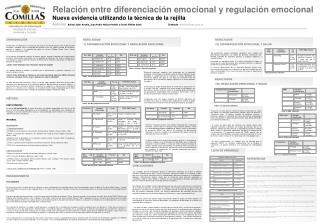 Relación entre diferenciación emocional y regulación emocional