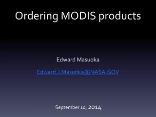 Ordering MODIS products
