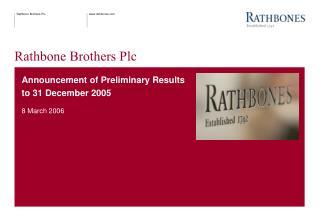 Rathbone Brothers Plc