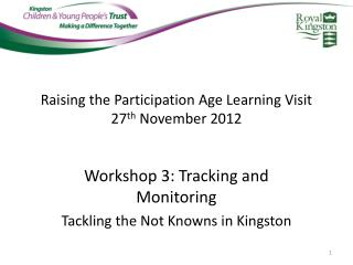 Raising the Participation Age Learning Visit 27 th  November 2012