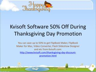 50% Off Kvisoft FlipBook Maker and Video Tools