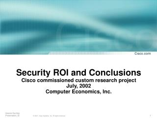 CE's methodology economic threats calculation