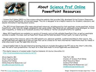 About  Science Prof Online PowerPoint Resources