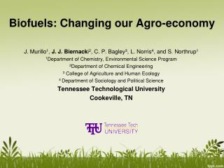 Biofuels: Changing our Agro-economy