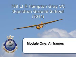 789 Lt R Hampton Gray VC Squadron Ground School  (2014)