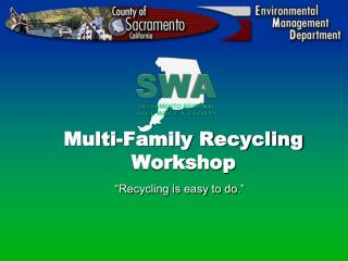 Multi-Family Recycling Workshop