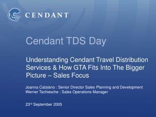 Cendant TDS Day