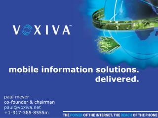 mobile information solutions. delivered.