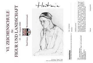 Hortensia: �Pallas�, 1994 Kohle und Wasserfarbe, 48 x 64,4cm