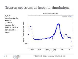 Neutron spectrum as input to simulations