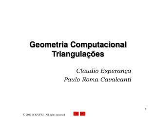 Geometria Computacional Triangula  es