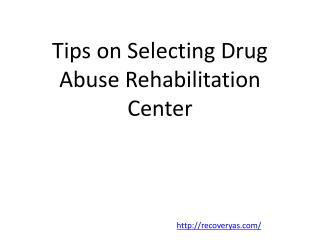Drug rehab intervention programs