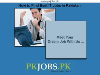 How to Find Best IT Jobs in Pakistan