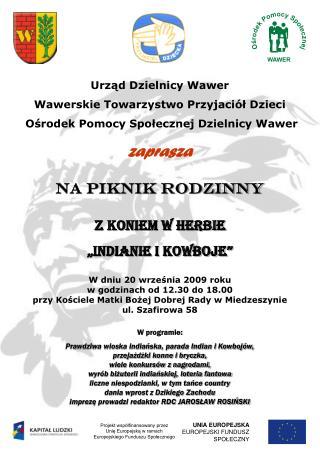 Urząd Dzielnicy Wawer Wawerskie Towarzystwo Przyjaciół Dzieci