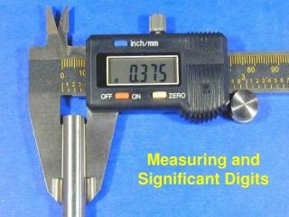 Measuring and Significant Digits