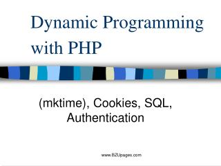 Dynamic Programming with PHP