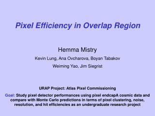 Pixel Efficiency in Overlap Region