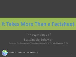 It Takes More Than a Factsheet