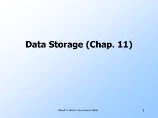 Data Storage (Chap. 11)