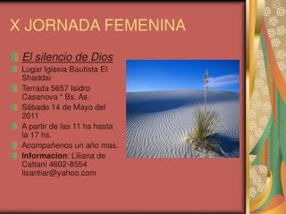 X JORNADA FEMENINA