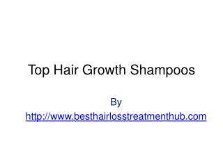Top Hair Growth Shampoos