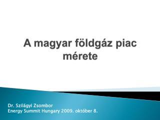 A magyar földgáz piac mérete