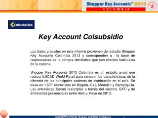 Key Account Colsubsidio