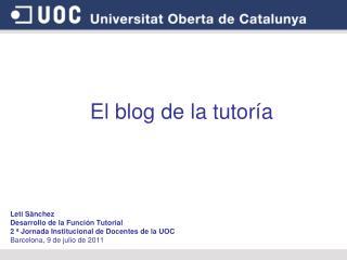 El blog de la tutoría