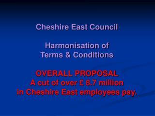Harmonisation Proposals  Savings Breakdown