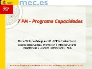 7 PM - Programa Capacidades