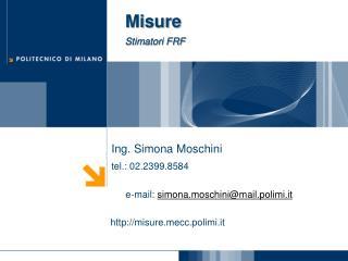 Misure Stimatori FRF