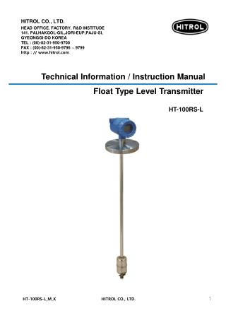 Technical Information / Instruction Manual