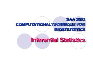 SAA 2023 COMPUTATIONALTECHNIQUE FOR BIOSTATISTICS