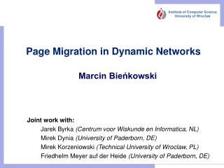 Page Migration in Dynamic Networks