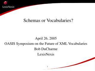 Schemas or Vocabularies?