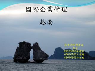 國際企業管理 越南