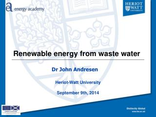 Renewable energy from waste water