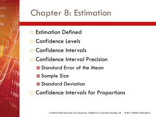 Chapter 8: Estimation